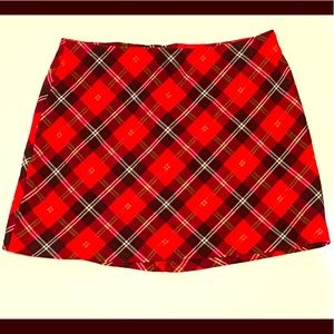 ☠️☠️A. Byer red and black plaid skirt size 11☠️☠️